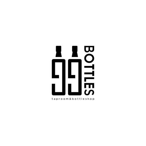Logo concept of 99 Bottles