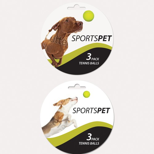Tennis Balls toy for dogs label
