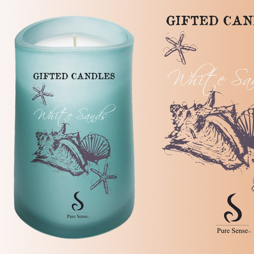 New product label wanted for Pure Sense Candles