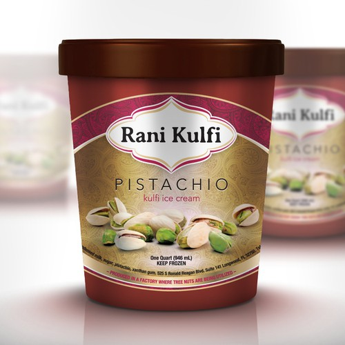 Rani Kulfi Ice Cream needs a new product label