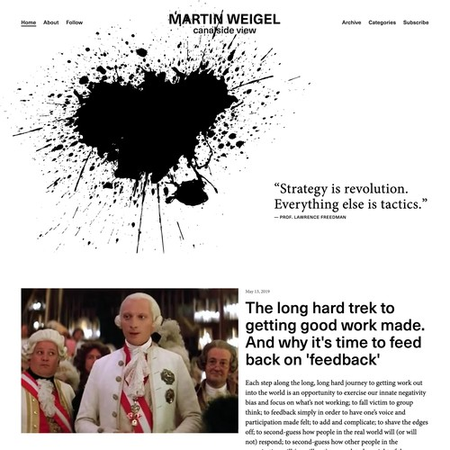 Martin Weigel | Website Design for a Writer