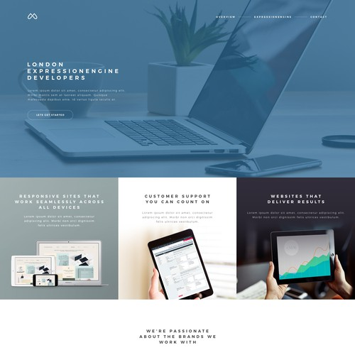 A design concept for web agency portfolio