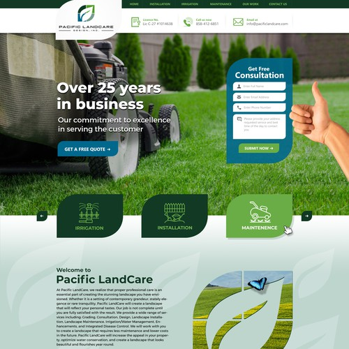 Artsy Simple Website for Landscape Company