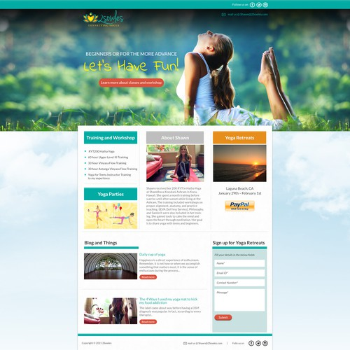 webdesign for Yoga school