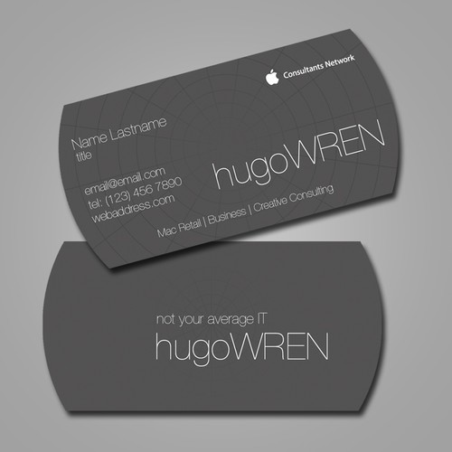 Business card for Mac consulting company