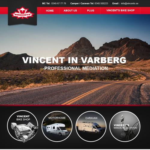 Create visually INSPIRING, powerful website for Swedens largest Motorbike & RV dealer!