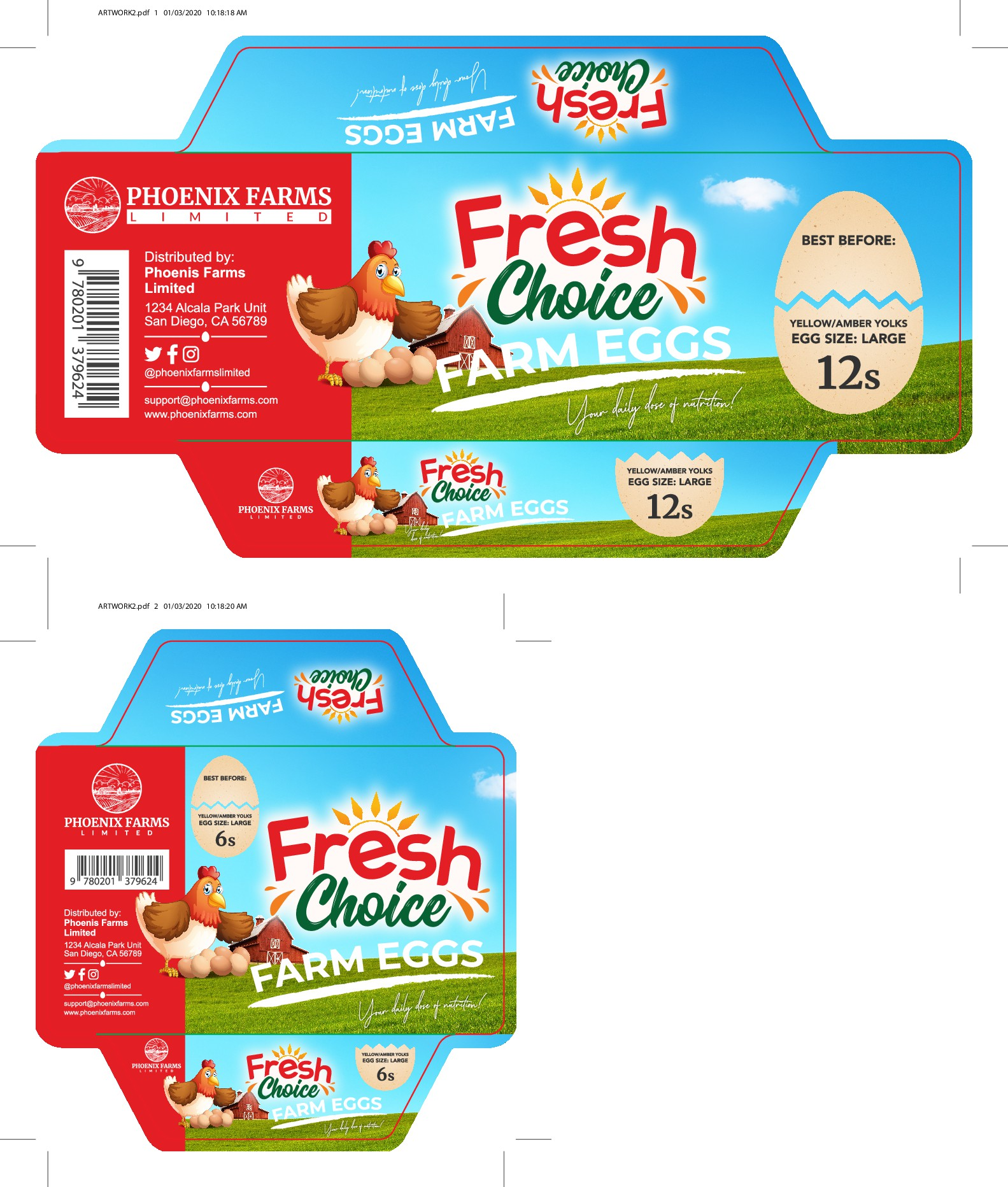 Packaging/labeling design for our eggs