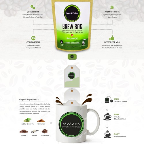 Healthy Coffee Company needs a clean sales oriented landing page