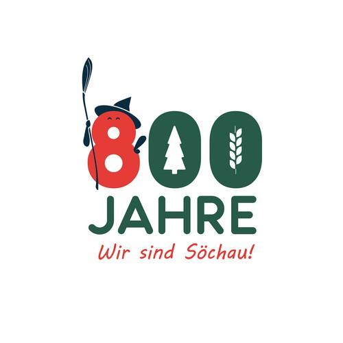 Logo for the 800 anniversary of Söchau, Austria
