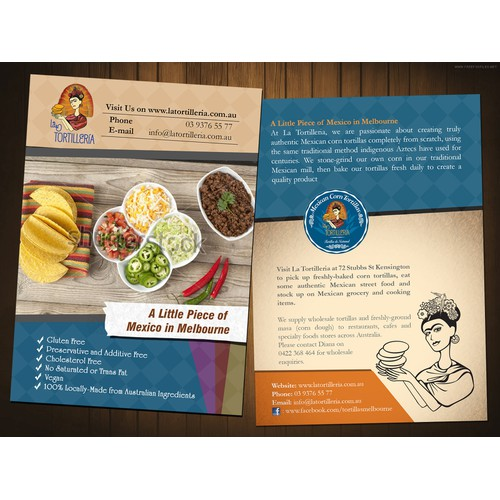 Help La Tortilleria with a new postcard, flyer or print