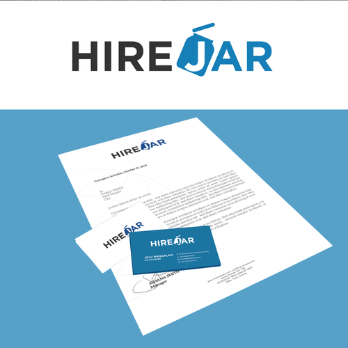 Design a simple, sophisticated logo & brand identity pack for HireJar