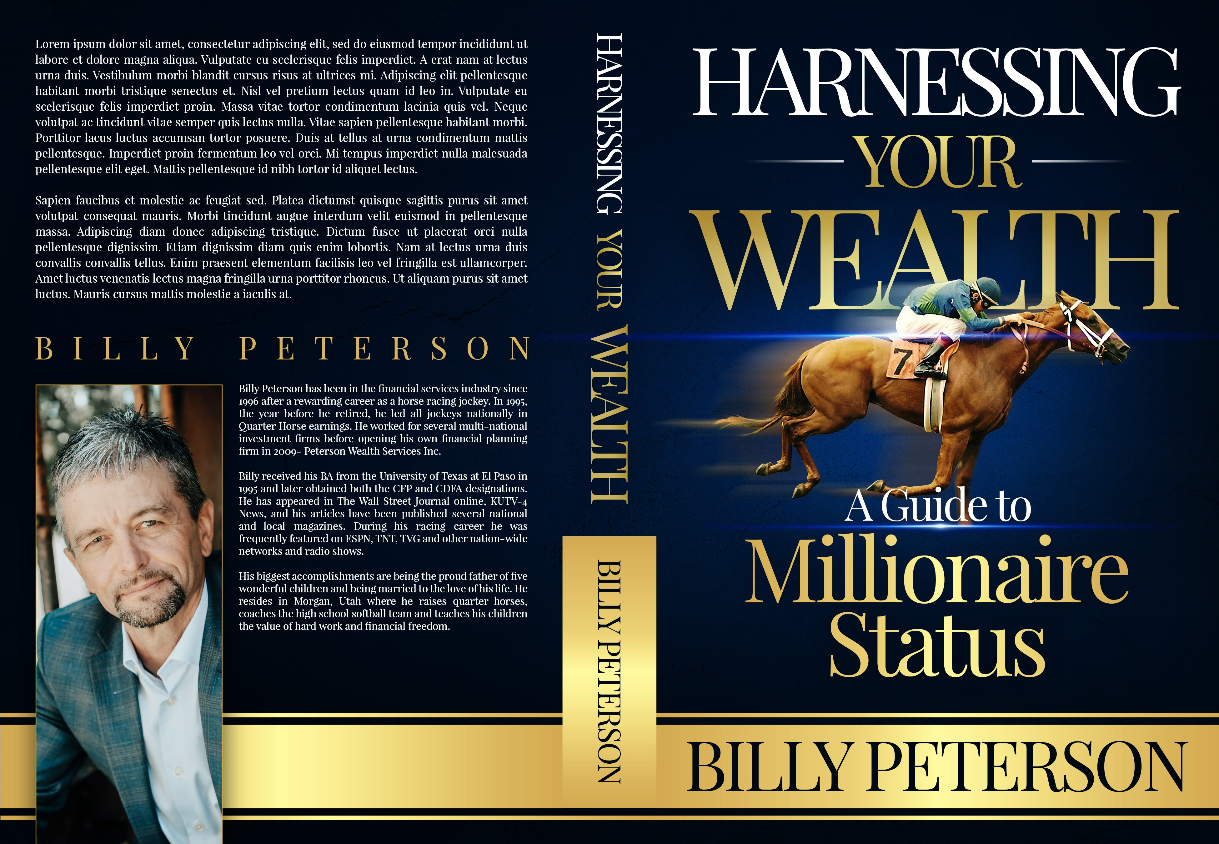 First book for jockey turned financial advisor needs a simple, yet catchy cover design