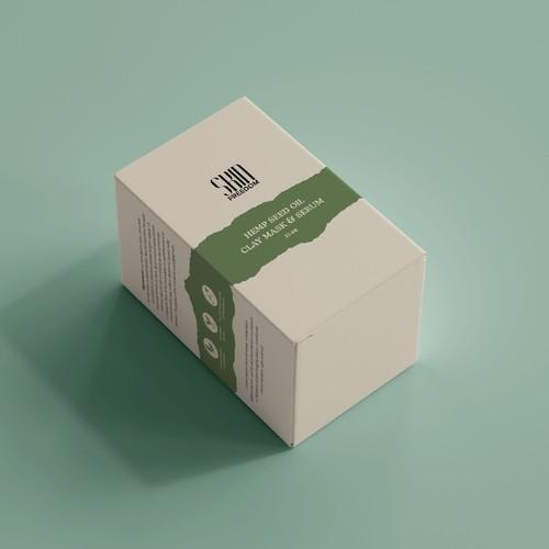 Outer box for hemp oil based skin care