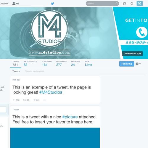 Twitter page header