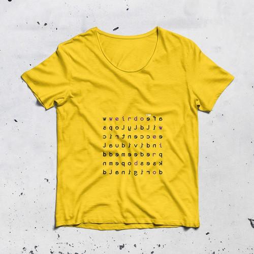 Graphic for WEIRDO t-shirt brend