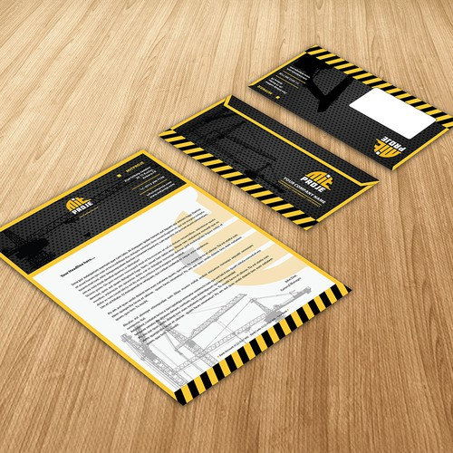 Letterhead Design for Construction firm
