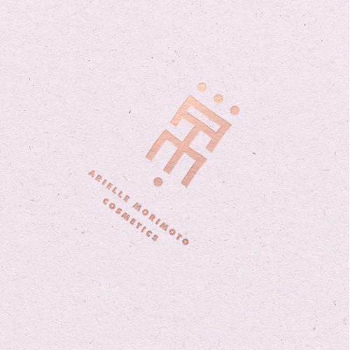 minimalist logo concpt for Vegan Cosmetics Brand