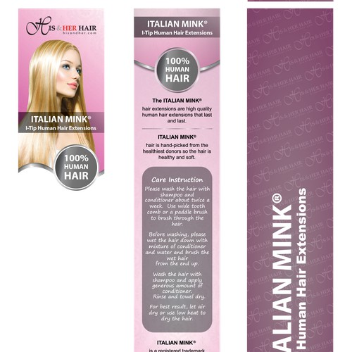 New I-tip package design for hair extensions