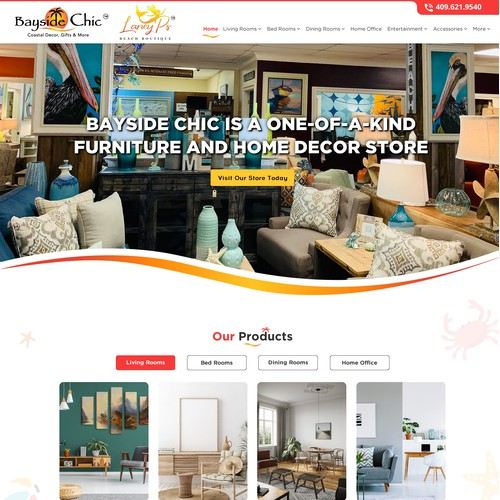 Hip chic web design for stores showcasing great south texas retail industry