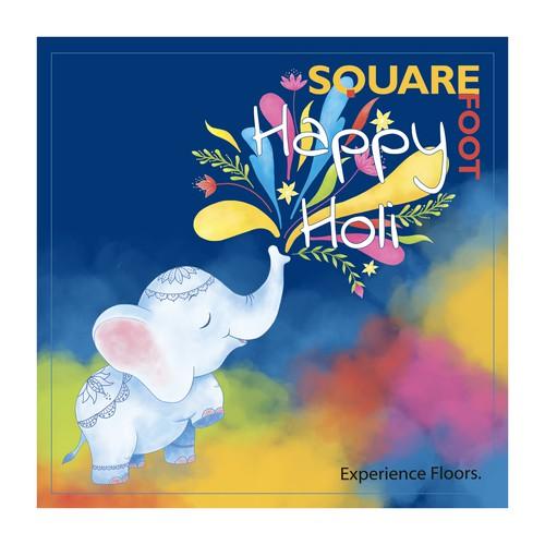 card for Holi festival