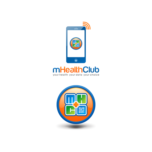 Create a logo for a new healthclub model which is based on 100% smartphone data connectivity