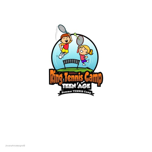 Tennis Camp Logo design