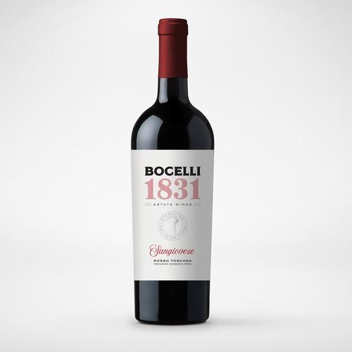 Bocelli - Sangiovese - Wine Label
