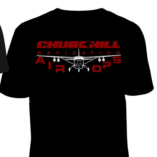 Design a tough tee for Churchill Navigation- something Chuck Norris would want to wear
