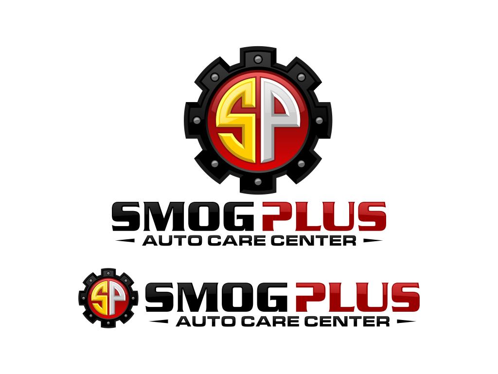 Create the next logo for Smog Plus Auto Care Center