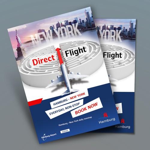 New York Flight Plane Poster