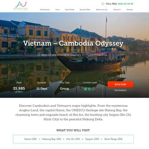 Travel tour - landing page