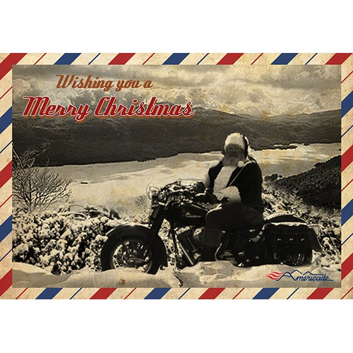 Design a Motorcycle Touring Rally Christmas Card