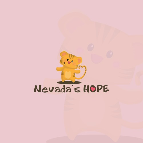 Cute Baby Tiger Logo
