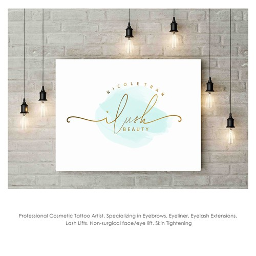 Design a sophisticated and feminine logo for iLushbeauty
