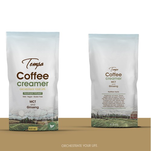 Package design for coffe creamer