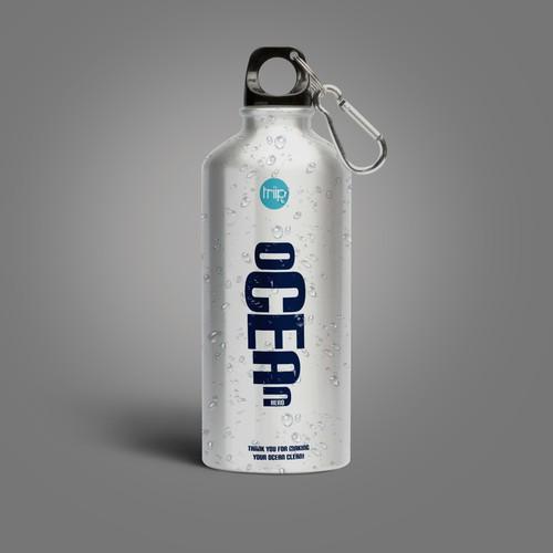 Ocean Water Bottle Design