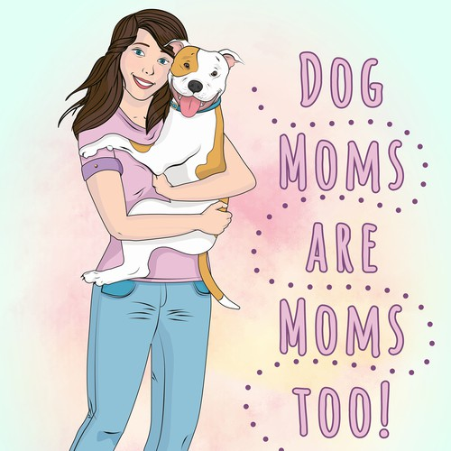 Mother's Day Greeting Card Illustration
