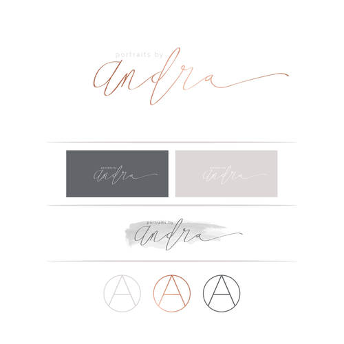 Elegant, expensive-looking logo for high end wedding and portrait photographer