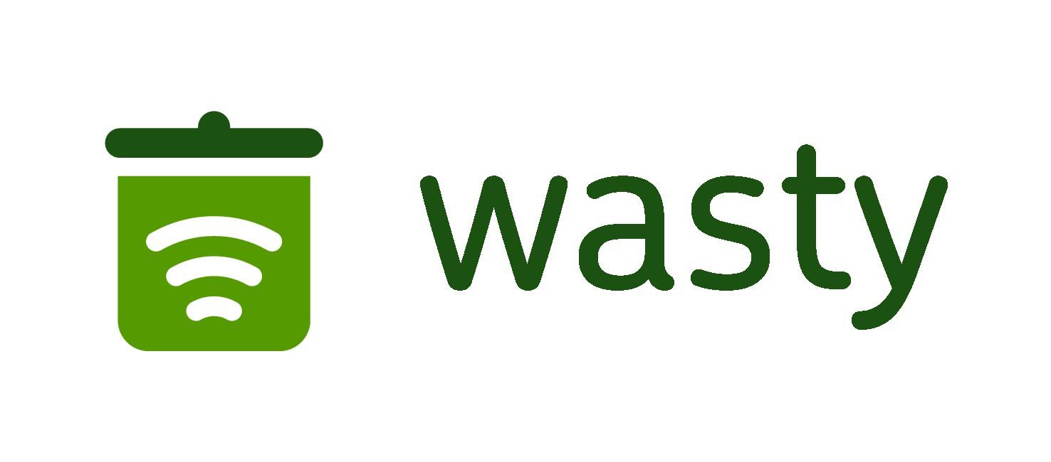 Wasty - logo for smart bins (smart city technology)