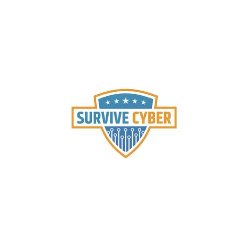 Survive Cyber Logo Design