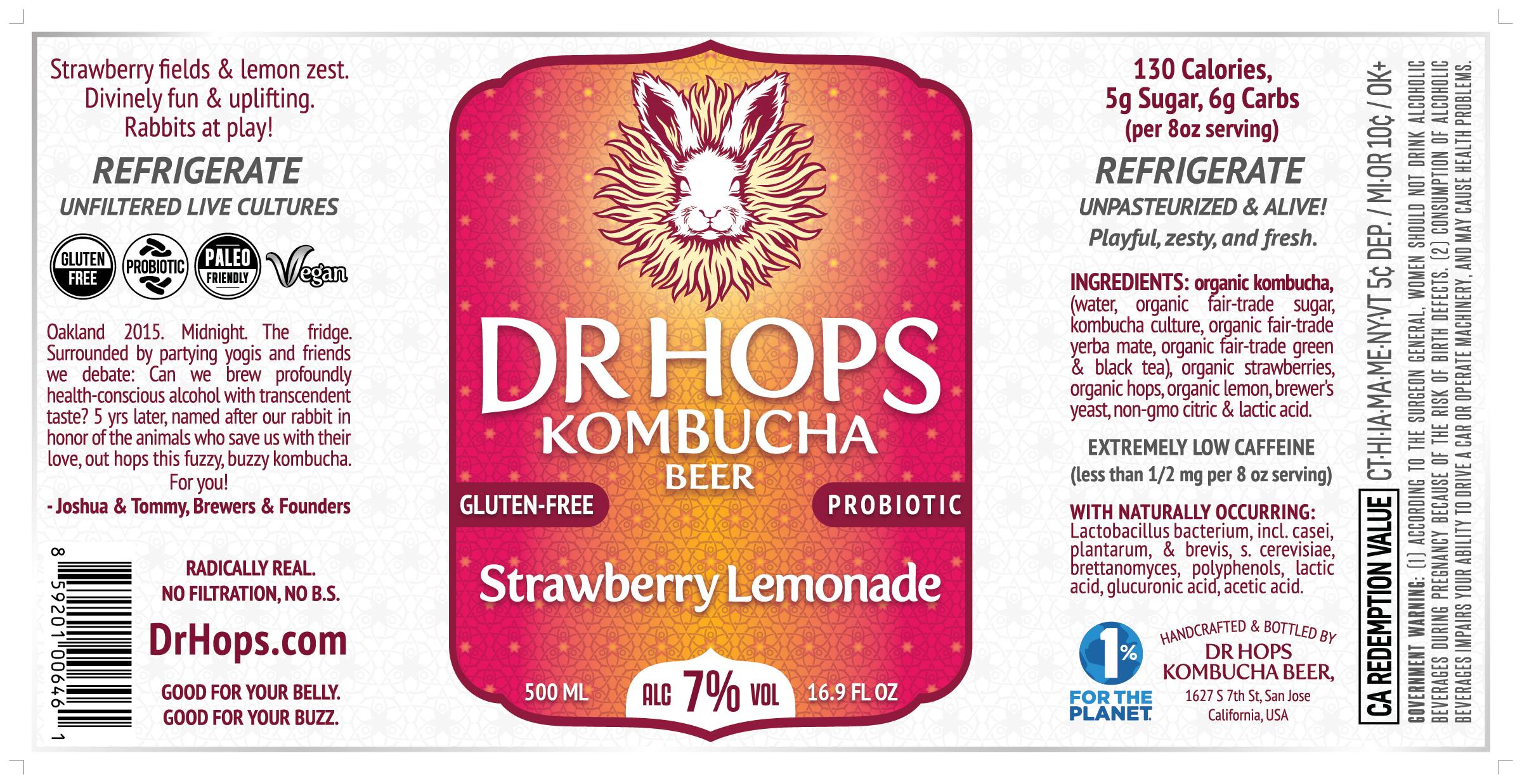 Bottle Mock-Up of New Strawberry Lemonade
