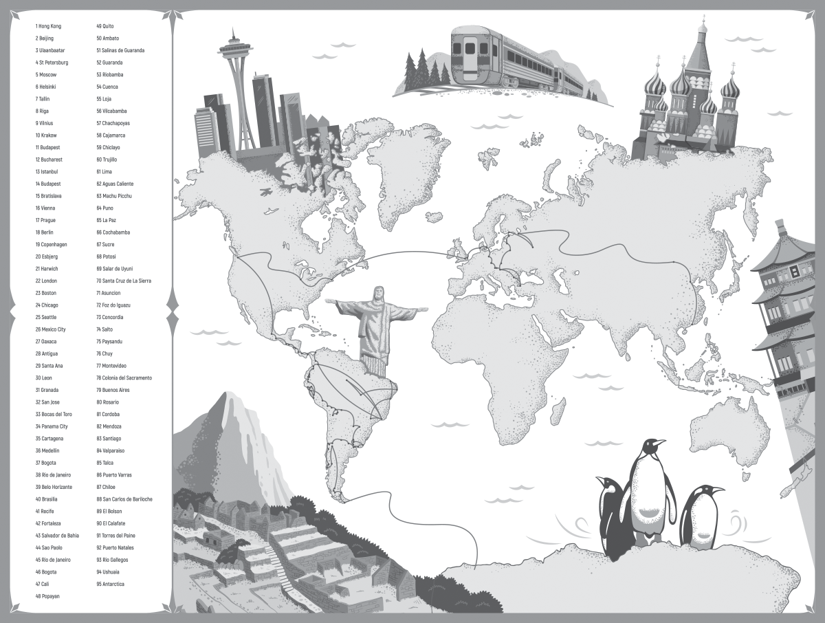 Illustrating the route map for a non-fiction travel book