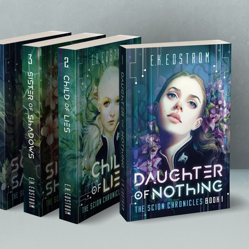 Book cover design for book series