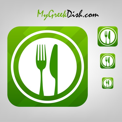 IOS7 styled app icon for MyGreekDish.com