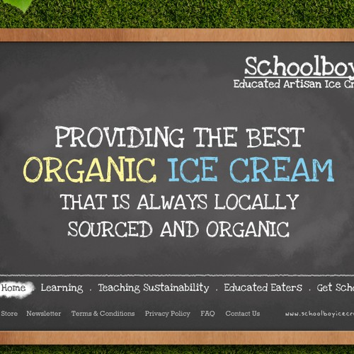 Schoolboy Ice Cream Needs An A+ Website