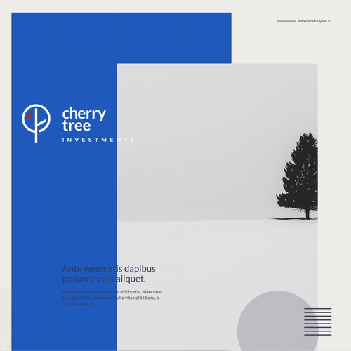 Minimalist and literal mark for Cherry Tree Investments