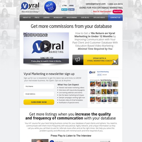 VyralMarketing.com seeks a 1 LONG page sales website like Apple - 90% done!