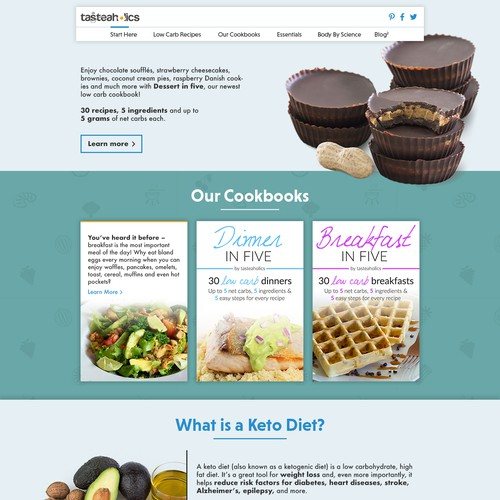 Clean and friendly Webdesign for Healthy-food Blog