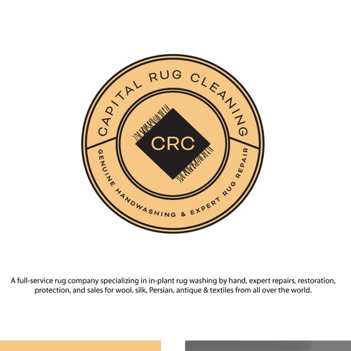 Polish Logo Design - Washington DC Rug Cleaning Circle Logo (Seal)