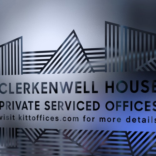Window vinyl advertising for Clerkenwell House by Kitt.